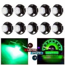 20PCS T3 Green Neo Wedge LED 1SMD 3528 Instrument Cluster Panel Dashboard Bulbs