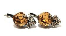 Fancy Stone Light Colorado Leverback Earring with Swarovski Crystal Elements