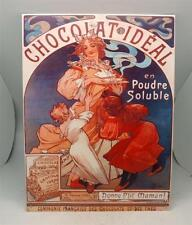 Art Nouveau Vintage Chocolat Mucha French METAL Wall Plaque Sign Poster Advert
