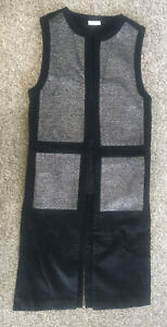 sass and bide Black Silver Long Woolen Gilet