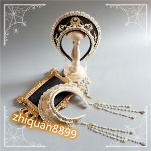 Handmade Palace Retro Gorgeous Bead Lolita Chain Girl Headband Hair Crown Gift