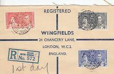 U 3055 British Honduras May 1937 Reg First Day Cover Coronation