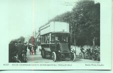 Pamlin repro photo postcard M507 Hove Corporation Experimental Trolleybus 1914