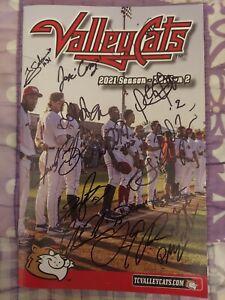 2021 Tri-City Valleycats Team Signed Autograph Program/Scorecard