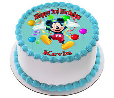 MICKEY  MOUSE REAL EDIBLE ICING CAKE TOPPER PARTY IMAGE FROSTING SHEET