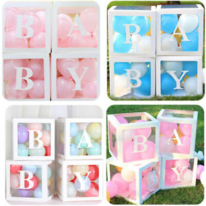 Customize Transparent Balloon Letter Number Box Birthday Baby Shower Xmas DIY