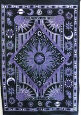 Small Zodiac Astrology Psychedelic Tapestry Wall Hanging Hippie Mandala Indian