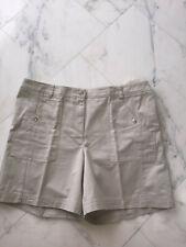 Jones NY Sport NEW Classic Shorts Beige Size 16 100% Woven Cotton Jones New York