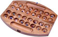 Bao Hus Kalaha Steinchenspiel Edelsteine Spiel Mancala oval Samena Holz Gr. L