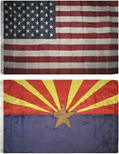 Wholesale Combo Lot of 3x5 USA Flag & State of  Arizona 3x5 2 Flags Banner