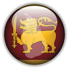 Sri Lanka Glossy Flag Map Label Car Bumper Sticker Decal 5'' x 5''
