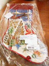 Sferra Needlepoint Christmas Stocking CHRISTMAS GOODIES  Wool - NEW!