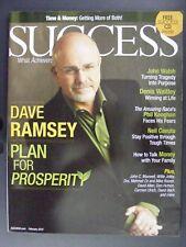 Dave Ramsey John Walsh Neil Cavuto Success Magazine February 2010 with CD