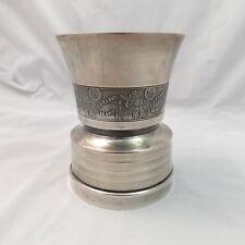 Vintage French Silverplate Giro Paris Musical Baby Cup Au Clair de la Lune Works