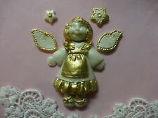 Angel with accessories silicone mold fondant cake decorating angel girl food FDA
