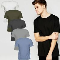 Mens Single or 6 Pack Cotton Plain Wholesale Basic T Shirts Casual Top Assorted
