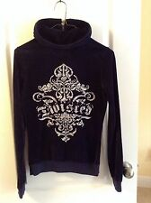 TWISTED HEART  ZIP FRONT HOODIE SWEAT JACKET SHINY BLING EMBELLISHED  sz S