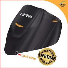 Housse Bache de Moto Couverture Protection Etanche Anti UV Vol Pluie Noir XXL