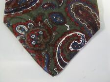 Windsor Tie Necktie Silk 56 x 3.5 green red white 13337 FREE US SHIP