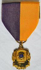 Vintage Lions Club International President's Appreciation Award Medal 10K GF Old
