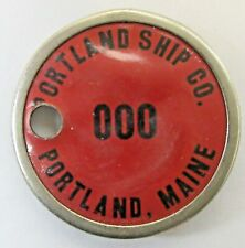 WWII 1940's PORTLAND SHIP CO. MAINE employee badge pinback Home Front a3
