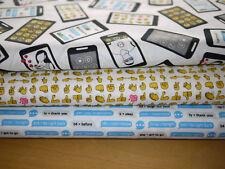 Windham Stoffpaket Patchworkstoff  3x  25x110 cm TALK ME BACK, Smartphone, Handy
