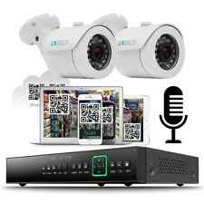 2 HD Outdoor Cameras 4Ch AHD Audio CCTV System 500GB Complete Kit Plug&Play P2P