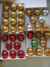 Vintage Lot of 36 Christmas Ornaments Pyramid Coby Red Silver Gold Green