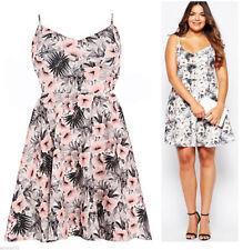 Plus Size Polyester Sleeveless Thigh-Length Dresses for Women