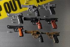 Japanese IWAKO Police Guns Set - Pistol, Revolver Walther 8 Puzzle Erasers