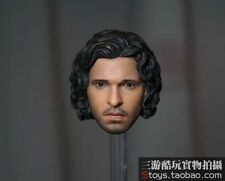 1/6 Jon Snow Head Model Curly Hair Toy Game of Thrones F 12'' Male Phicen Body