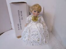 """Porcelain Doll Cinderella Storybook With Stand 14.5"""" White & Gold Dress Blonde"""