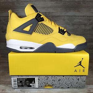 Nike Air Jordan 4 Retro Lightning 2021 Basketball Shoes Men's Size 13