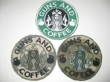 Guns and Coffee Morale Fun Badge Patch Airsoft Paintball Military with Velcro