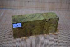 Stabilized Spalted Maple Burl - Yellow - Knife Scales Block (#012)