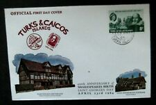 Turks & Caicos-1964-Sir William Shakespear FDC