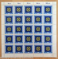 Bund BRD Cept 1209 kompl. Bogen Europäisches Parlament postfrisch Full sheet MNH