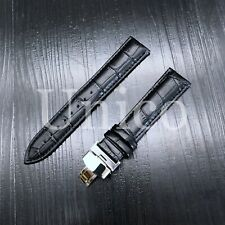 LEATHER STRAP BAND 20/18MM FOR TAG HEUER MONZA WR2110 CLASP FIT FC5012 BLACK