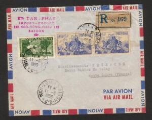 Vietnam, 1956 Postal History, Collectible Registered Envelop, empty