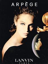 PUBLICITE ADVERTISING 104  1994  ARPEGE  parfum pour femme de LANVIN