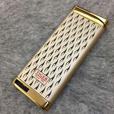 Tiger Jet Torch Flame Ultra-thin Butane Windproof Cigar Cigarette Lighter Gold