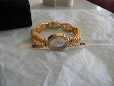 Premier Designs CELEBRATION gold crystal bracelet watch rv $79 FREE ship nib