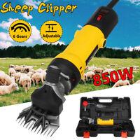 850W Elektrische Schermaschine Schafschermaschine Schafe Ziege Clipper & Koffer