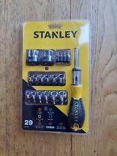 "Stanley 29pc  Set Ratcheting Screwdriver 1/4""  Sockets   0-54-925"