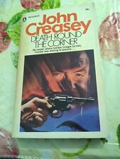 DEATH ROUND THE CORNER by John Creasey 1st US Ed  POPULAR LIBRARY 1970 VG B2