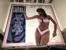 SABRINA SALERNO SUPER LP VINILE + POSTER 1° STAMPA ITALY 1988 ITALO DISCO