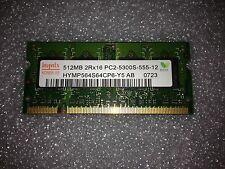 Memoria SoDimm DDR2 Hynix HYMP564S64CP6-Y5AB 512MB PC2-5300 667MHz CL5 200 Pin