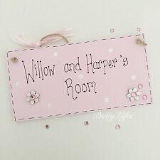 Personalised Name Door Plaque Boy Girl Gift Handmade