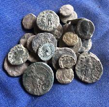 Roman Coin:LOTE DE 26 Monedas Romana Bajo Imperio Etc.. Sin Limpiar A Catalogar