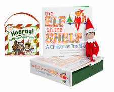 Elf on the Shelf: Boy Scout Elf(Blue Eyed) with The Scout Elves Present: Hooray!